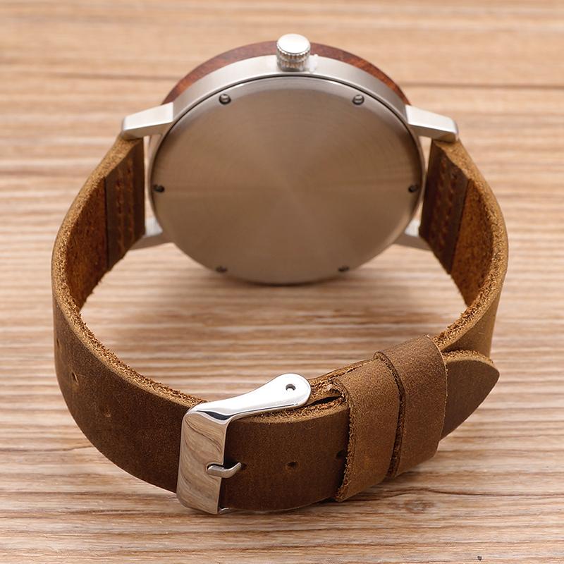 Watch Men Leather Strap Wooden Watches Luxury Wood Wristwatches relogio masculino C-K06 (9)