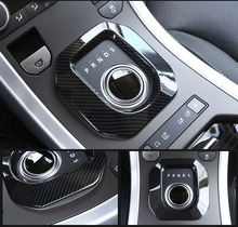 New! Carbon Fiber Style ABS Plastic Accessories For LandRover Range Rover Evoque 12-17 Gear Shift Frame Cover Trim