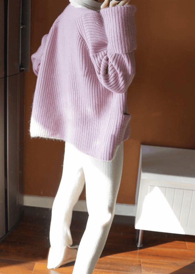 Noël White Automne Wsr218 Mélange Chandail Cachemire Tendances Tricoté Mode La Cardigan pink Wome De Hiver Dames Femelle xqp417ZUnw