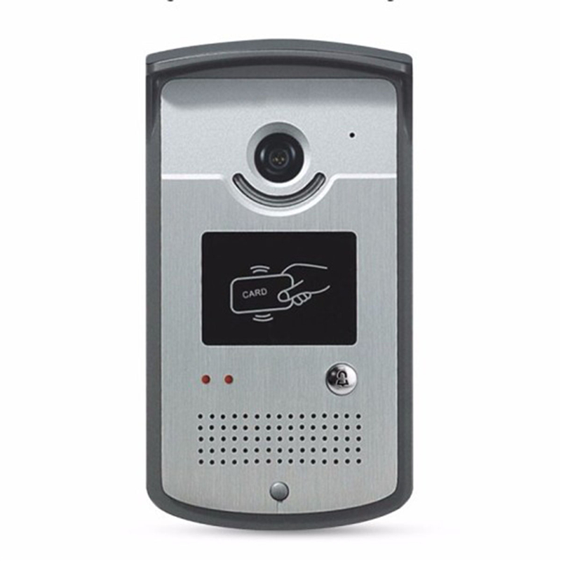 Home Wired Video Door Phone Doorbell Access Control System Waterproof Outdoor IR Camera With CMOS Night Vision RFID Reader Card outdoor mf 13 56mhz weigand 26 door access control rfid card reader with two led lights