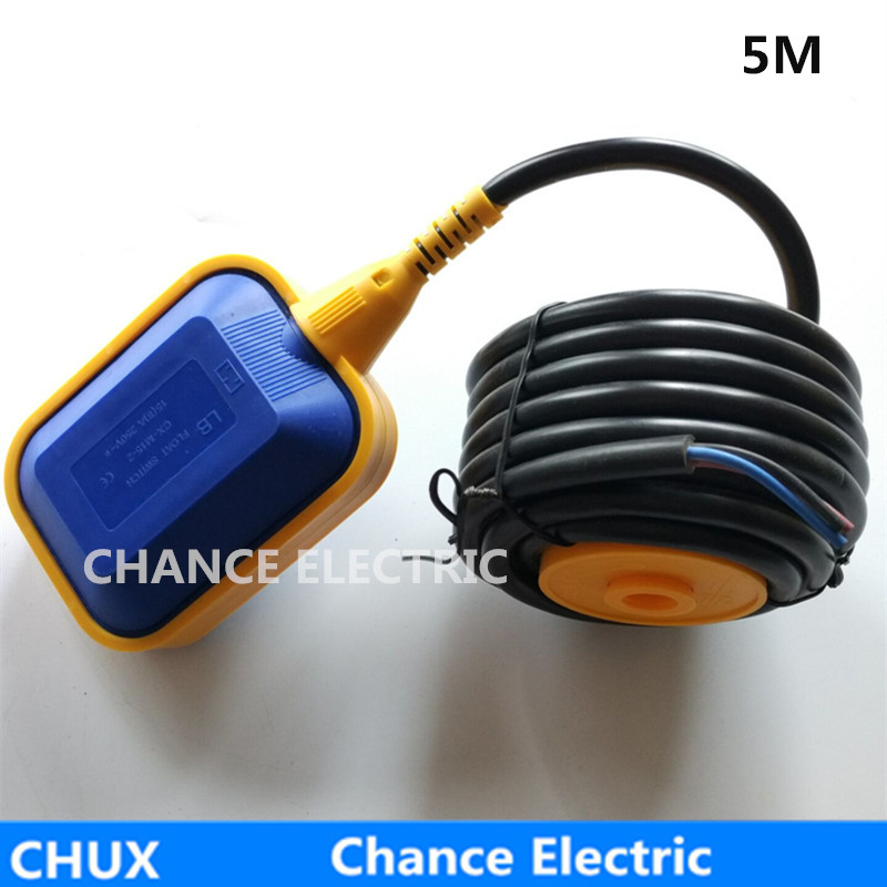 Water Level Control Liquid Switch Cable type 5 meter Cable 16A Sensor For Pump CX-M15-2 Float Switch 10m pvc float level switch cable float switch liquid fluid water pump level no nc controller sensor m15 5