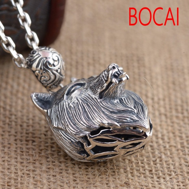 S925 wholesale sterling silver pendant antique silver wolf retro s925 wholesale sterling silver pendant antique silver wolf retro style unique male style gift mozeypictures Image collections