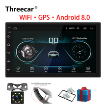 2 Din Autoradio Android 8.0 Universale di Navigazione GPS Bluetooth Touchscreen Wifi Car Audio Stereo FM USB Car Multimedia MP5