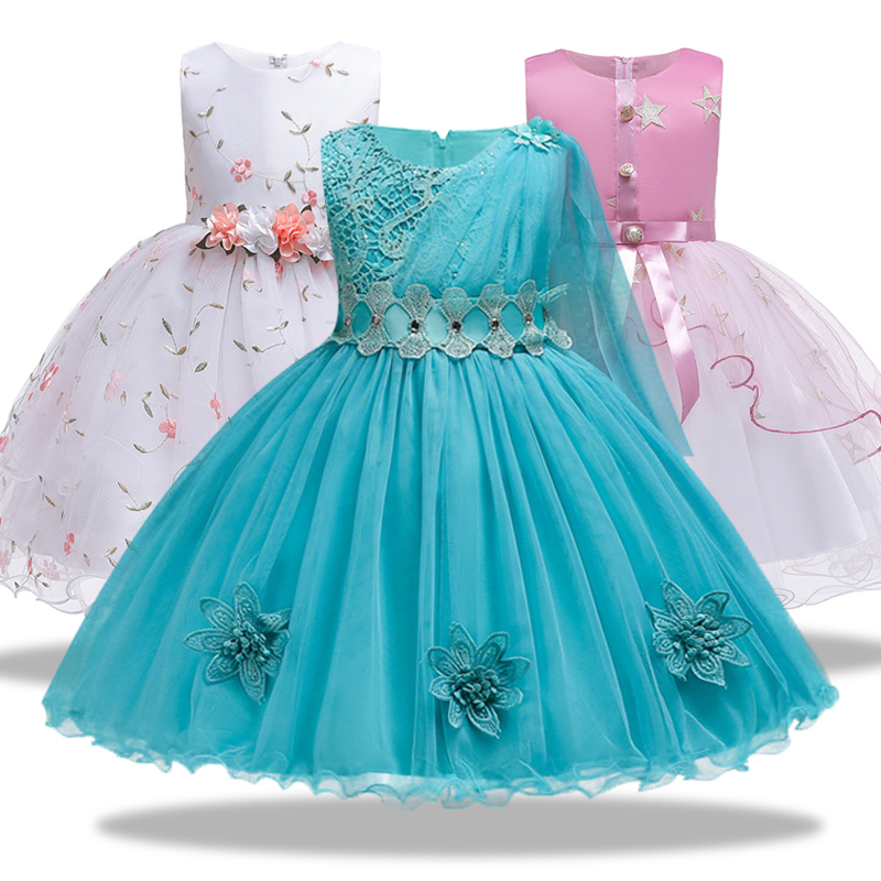 Princess   girl's   Fleet yarn birthday children's evening   dress     flower     girl   little host wedding   dress   piano performance costume