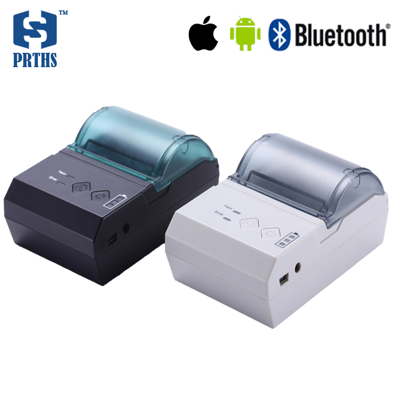58mm portable bluetooth thermal printer IOS mobile language pos printer with special power remaining indicator light impressora portable bluetooth printer for android support 57 50mm paper roll mobile thermal printer with led battery indicator pos machine