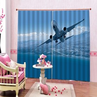 Stereoscopic Photo 3D Curtains Air plane Window Curtains Customize any size Living Room Kids Curtains