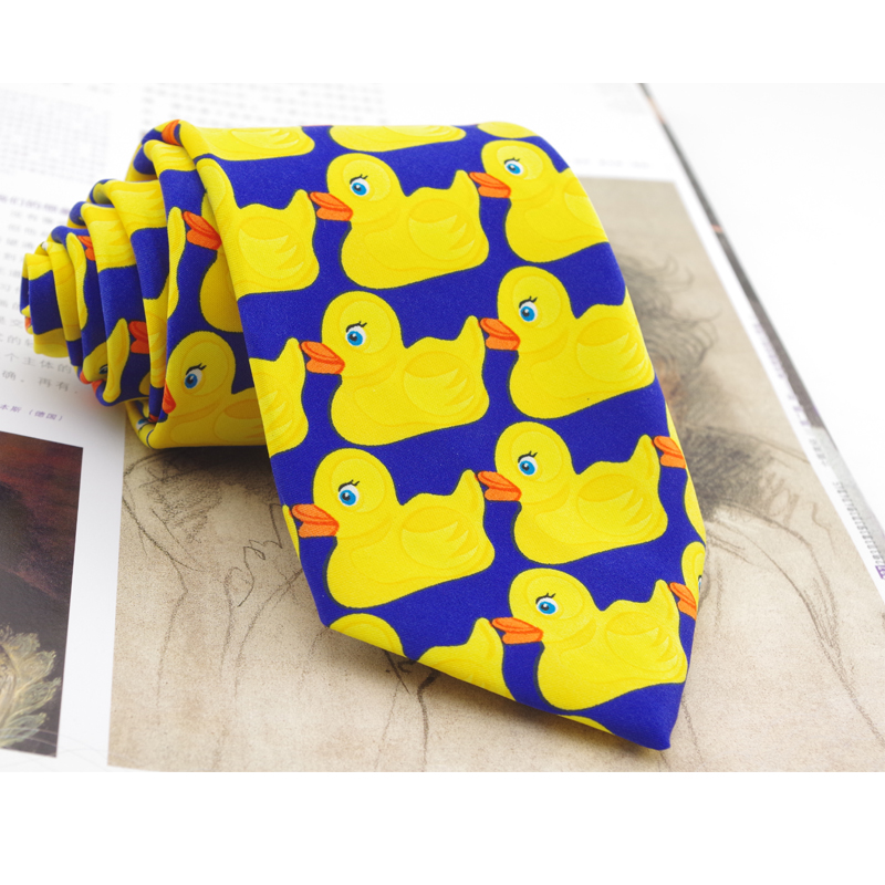 Animal Tie Ducks How I Met Your Mother Mens Ties 2018 Novelty Yellow Necktie Rubber Duck Casual Suit Cartoon Printed Tie For Men