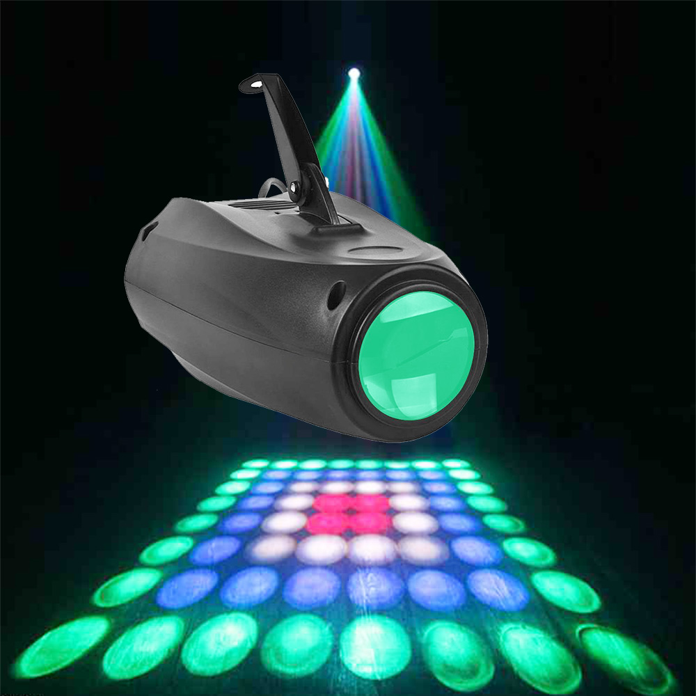 Small Airship 64 RGBW Color Changing LED Moonflower Lighting Magic Pattern Stage