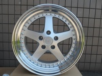 FOUR 18 SILVER EQUIP STYLE RIMS FITS G35 G37 HONDA ACCORD AGGRESSIVE STAGGERED W015