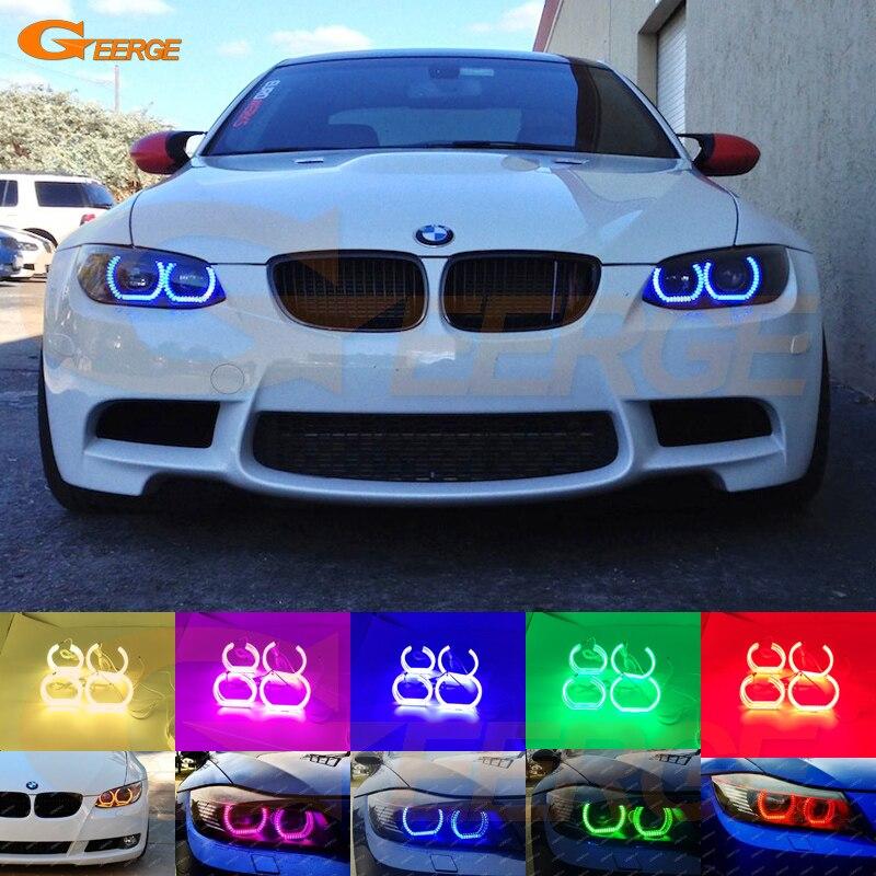 Для BMW 3 серии E90 Е92 Е93 м3 купе 2007-2013 отличное ДТМ Стиль Ультра-яркий RGB многоцветные светодиодные Ангел глаз комплект