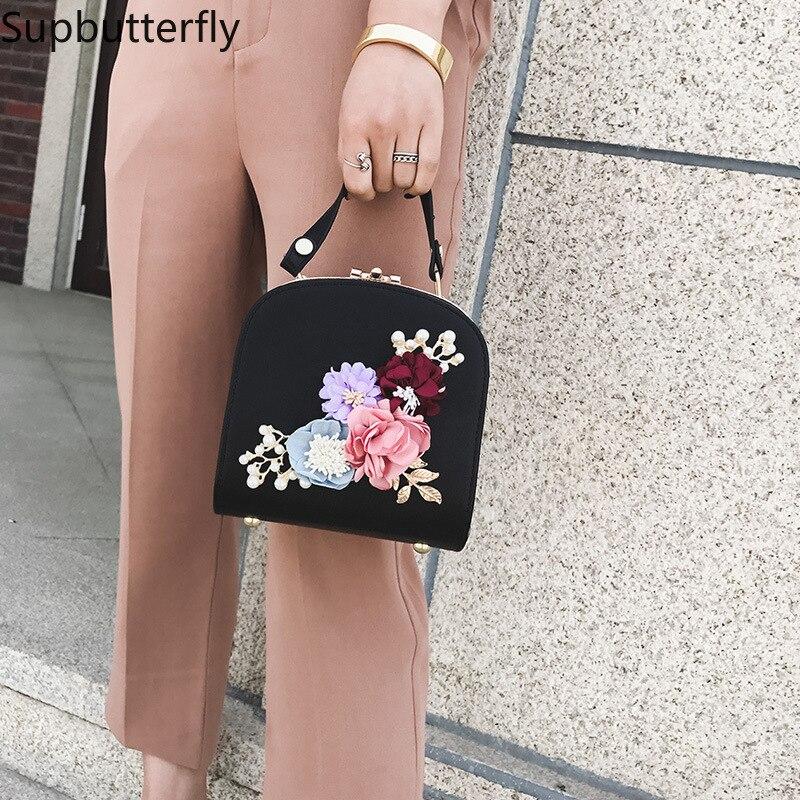 Women bag box Bag National style flowers embossed lock single shoulder bag handbags bags for women 2018 5
