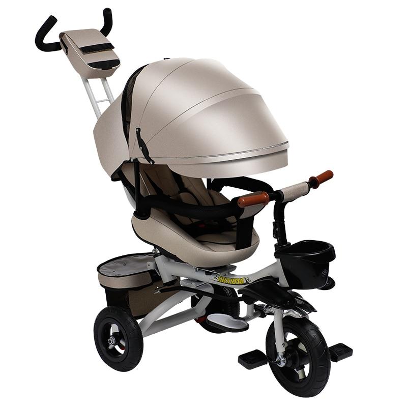 Tricycle pour enfants vélo bébé poussette bébé vélo poussette