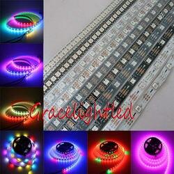 WS2812B 5050 RGB LED Strip 5 M 150 Leds 300 144 30LED/M Individual Endereçável 5 V