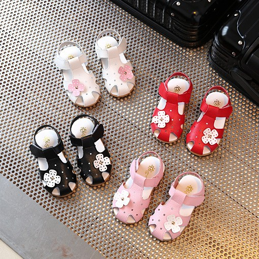 2017 new 1-5y girl sandals shoes for girl toddler shoes flat with baby kids summer princess leather shoe sandals for baby girl ...