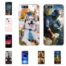 For Huawei Honor 7X BND L21 L22 Case Soft TPU L24 Mate SE Cover Dog Pattern AL10 TL10 Funda