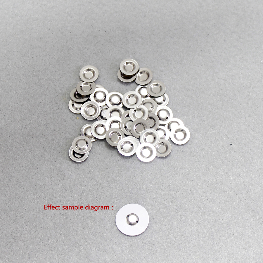 Купить с кэшбэком 100pcs/lot 14500 lithium battery chip can be spotted cap 14500 lithium battery chip negative pole positive tip cap