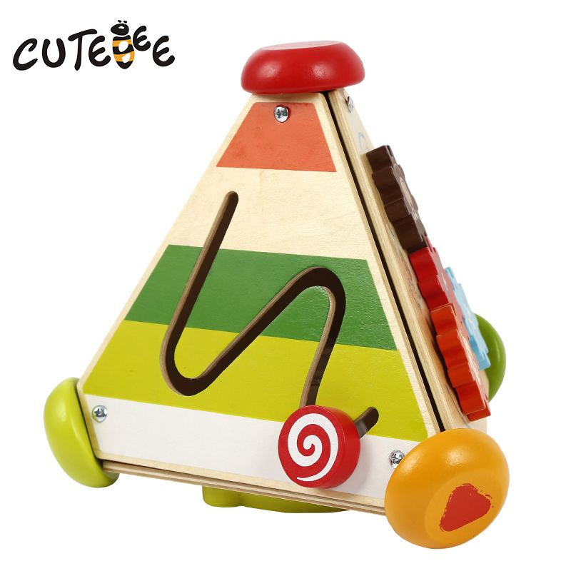 Cutebee Wooden Toys for Children Montessori Math Toy Cube Multi Function Teaching Aid Treasure Chest Kids Baby Toys gigo science toys 1603 colorful animal pattern work cards model building kits teaching aid math balance for kids arithmetic