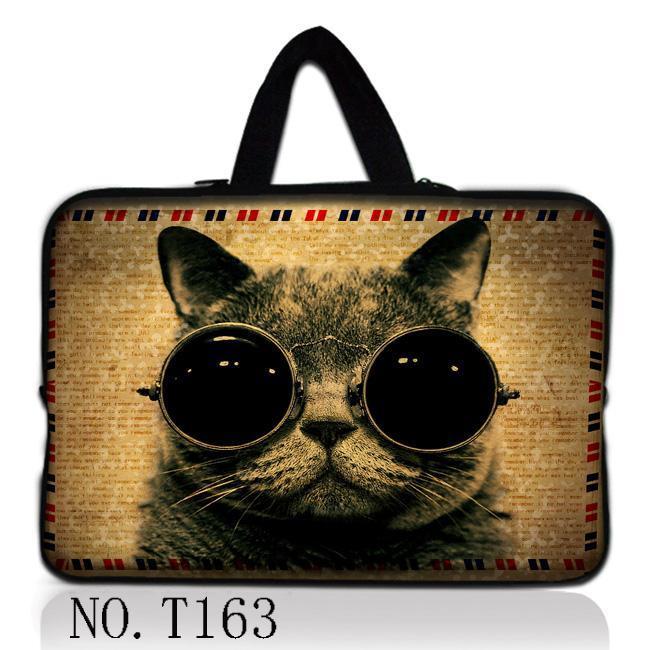 Sunglasses Cat Laptop Bag 13.3 14.4 15.6 Soft Sleeve Handlebag Laptop Bags Case for women MacBook Pro Air Notebook gift ipad