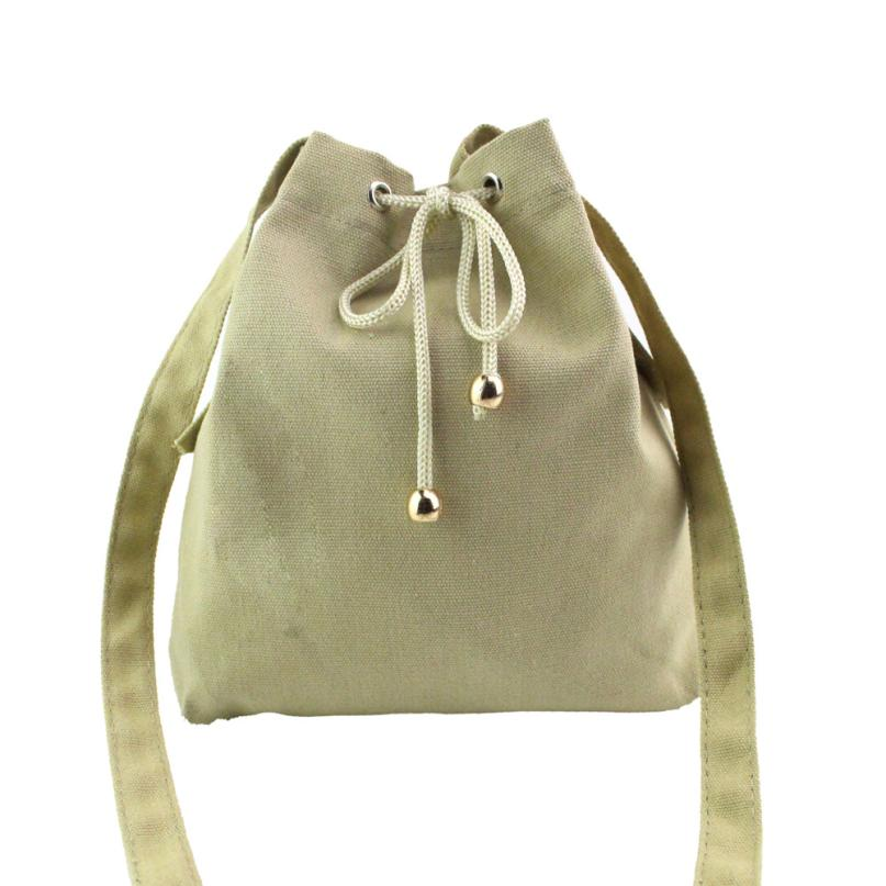 Shoulder Bag Japan Canvas Drawstring Handbag Women's Messenger Bags Bolsa Feminina Para Mujer #YW