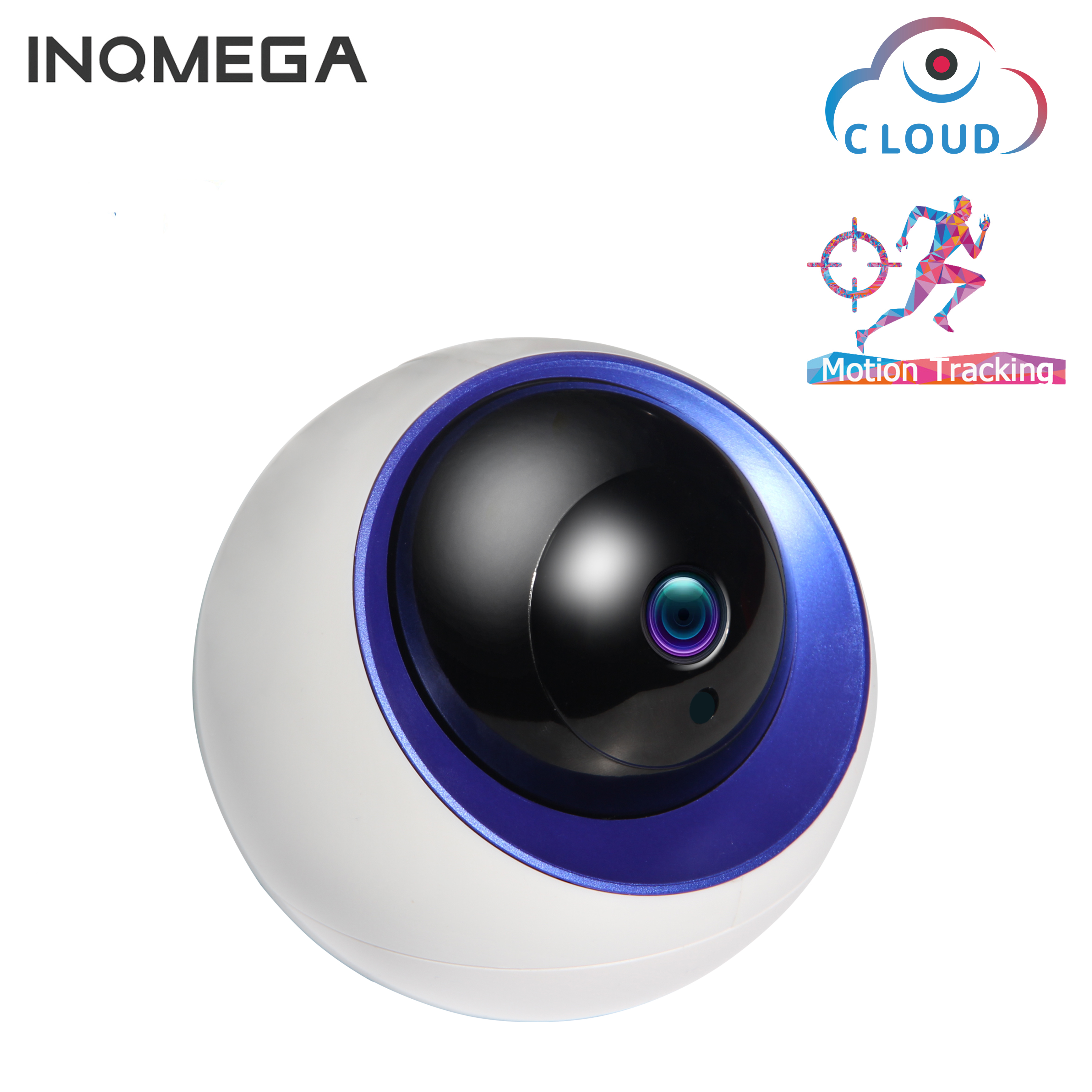 INQMEGA Cloud IP Dome Camera Auto Tracking 4MP 1080P Indoor Home Security Surveillance CCTV Camera Infrared/Audio/Alarm/Pan/TiltINQMEGA Cloud IP Dome Camera Auto Tracking 4MP 1080P Indoor Home Security Surveillance CCTV Camera Infrared/Audio/Alarm/Pan/Tilt