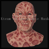 Free shipping Halloween Party Cosplay Zombie Devil Scary Mask Freddy ZOMBIE Monster Halloween Latex Ghost Mask Toys Free size