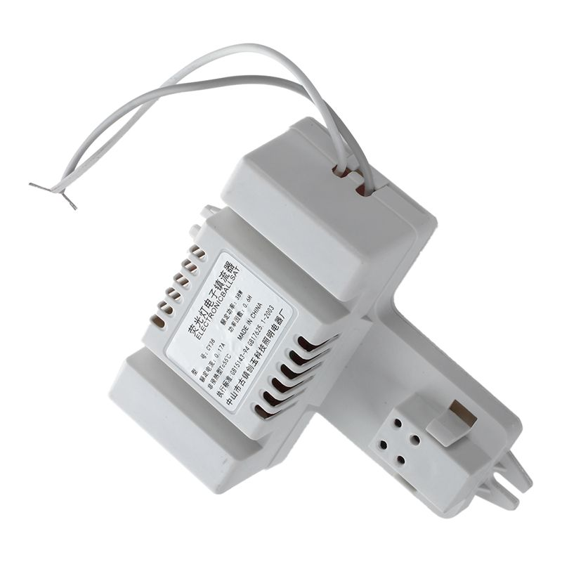 White Plastic Shell 4 Pin 2d Tube Bulb Fluorescent Ballast Ac 220v 0 19a 38w Ballasts Aliexpress