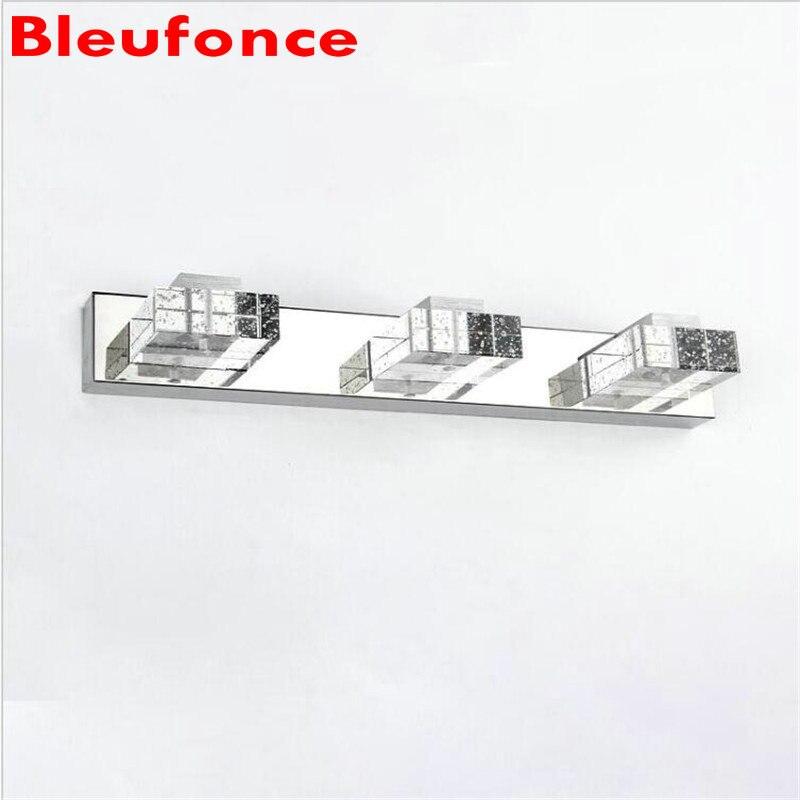 Simple Modern Crystal LED Front Mirror Light Cabinet Wall Lamp Make-up Lighting Bathroom Headlight AC85-265V HZ05