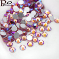 Pink ab SS3-SS20 Nail Rhinestones,1440pcs/lot Flat Back Non Hotfix Glitter Nail Stones,DIY 3d Nail Phones Decorations Supplies