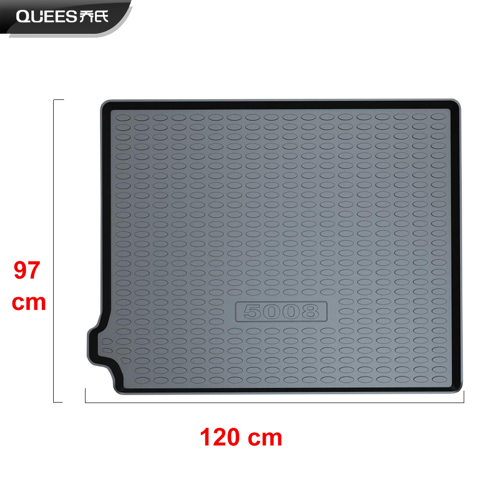 Image 4 - QUEES Custom Fit Cargo Liner Boot Tray Trunk Floor Mat for Peugeot 5008 2nd Generation 2017 2018 2019