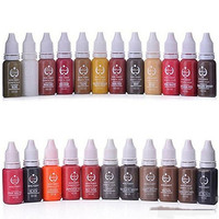 23Pcs Biotouch Ink Permanent Makeup Pigment 15Ml Cosmetic 23 Color Tattoo Ink Set Paint For Microblading
