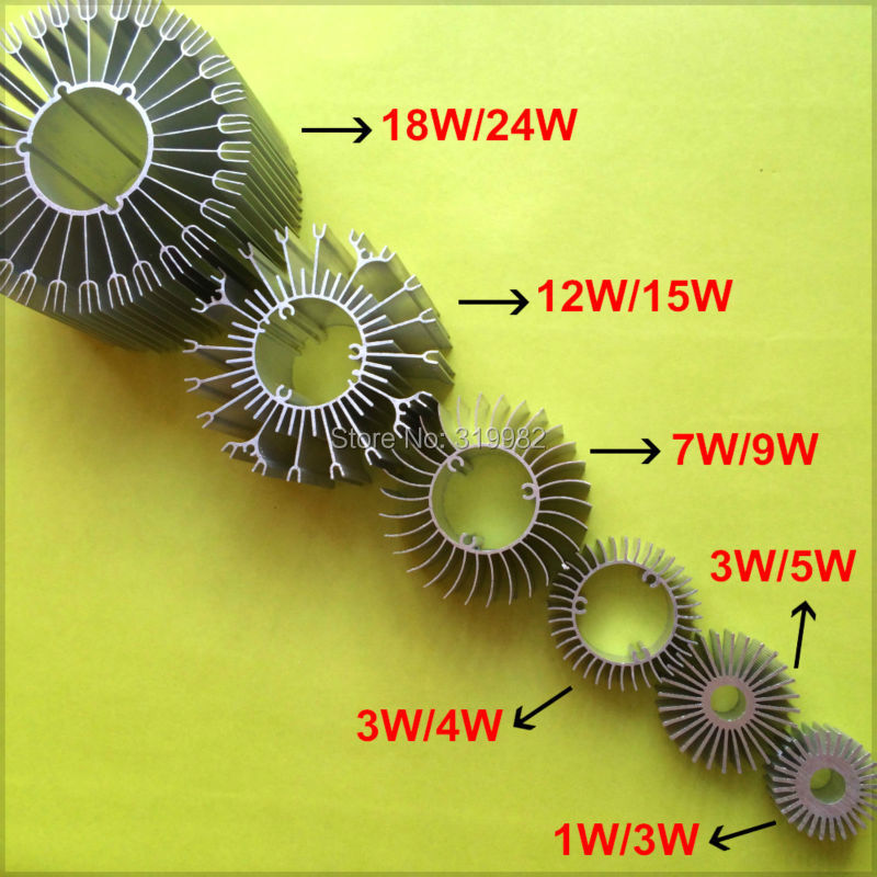 10pcs/lot LED Heatsink Aluminum Base Radiator For 1W-24W High Power LED Cooler Sunflower UFO Round PCB Radiator LED Lamp DIY