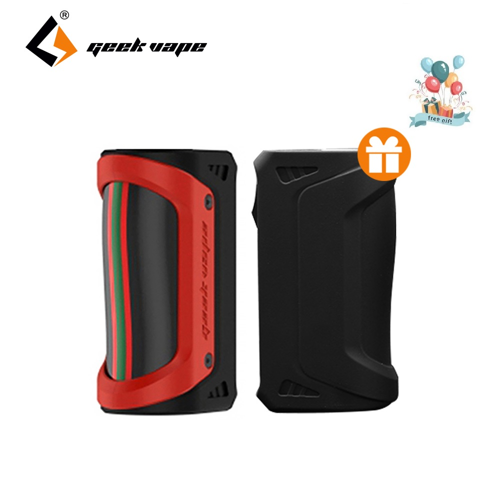 Original GeekVape Aegis Box MOD 100W with Free Gift Silicone Case No 18650/26650 Battery Box Mod Huge Power AegisMOD Vs RX Gen3 used good condition mod no 503 ser no 2097014 with free dhl ems