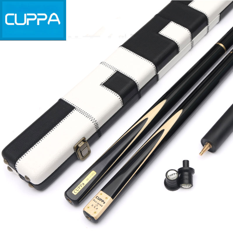 High Quality Black Cuppa Snooker Cues Stick 9 8mm Tip With Snooker Cue Case Set 6