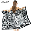 iDouillet Microfiber Bath Beach Towel Blanket for Adult Absorbent & Quick Dry Large 100x180cm Leopard Print Swimming Pool Wrap 1