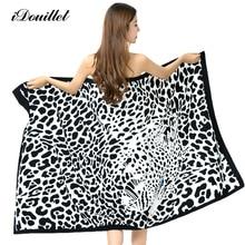 100×180 см супер-абсорбент Леопардовый Терри пляжное полотенце для взрослых микрофибры купальня Wrap одеяло быстросохнущая бассейн лист