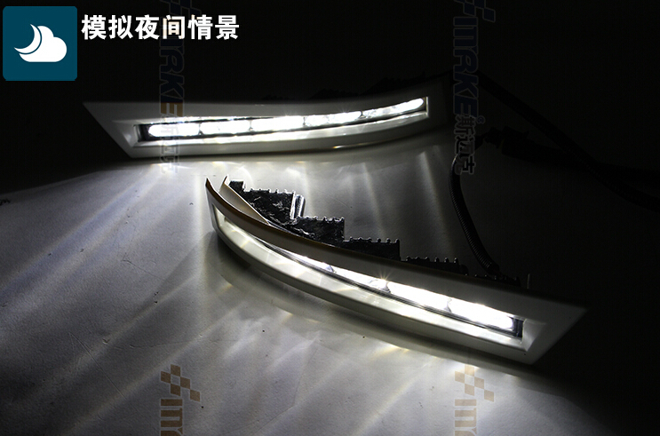 led drl daytime running light for Hilux vigo 2012+ top quality xenon bright top quality guiding light design led drl daytime running light for citroen c5 2013 2014 super bright fast shipping