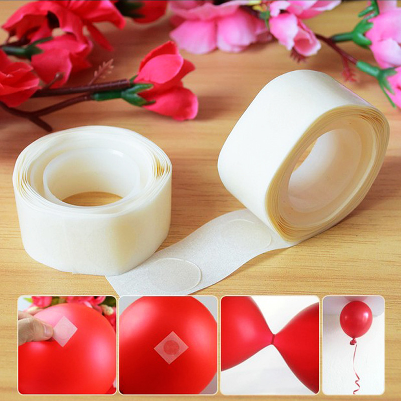 100 PCS Removable Inflatable Balloon Glue Party Wedding Birthday Decoration Balloon Accessories Marriage Supplies Tape