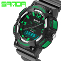 luxury brand men watches Sanda sports 30m  waterproof military men LED watch fashion watch hot electronic Resin Strap watch