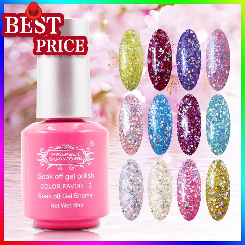 Free shipping Color gel polish 10colors +1 base ge...
