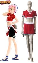 Free Shipping font b Naruto b font Sakura Haruno Summer Dress font b Cosplay b font