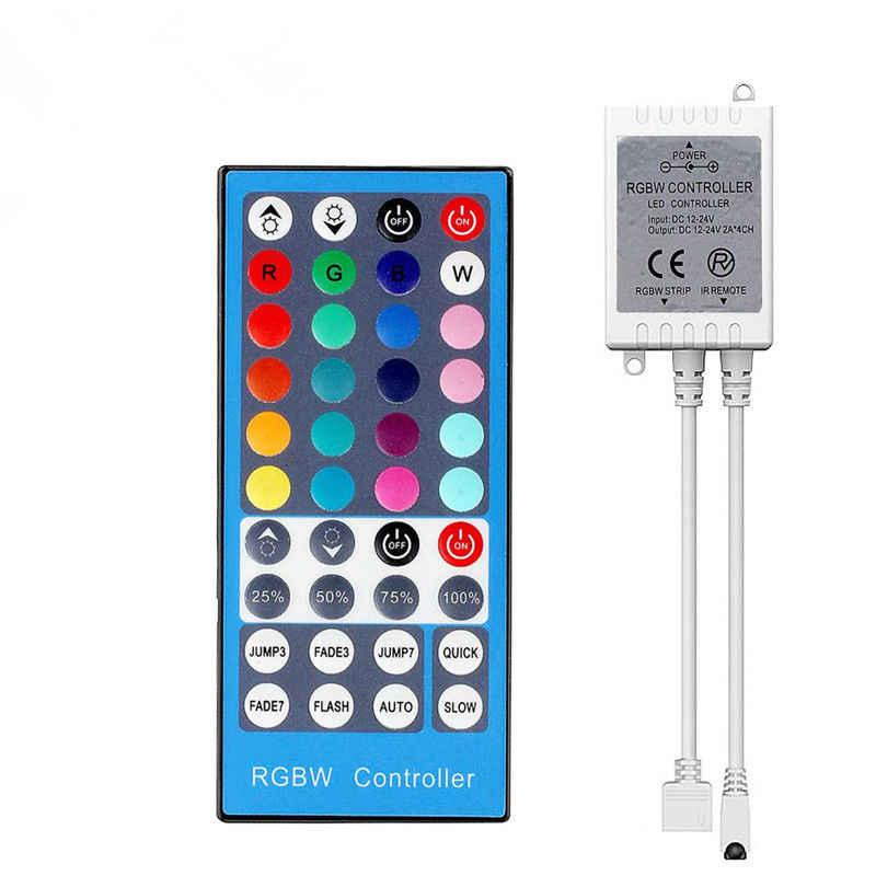 FGHGF 4 kanały DC 12 V-24 V LED RGBW kontroler ściemniacz 40Key 5 pinów pilot zdalnego sterowania na podczerwień dla SMD 5050 RGBW RGBWW taśmy LED światła