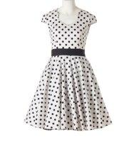 Poque Candow Olhar Belle Verão Mulheres Vestidos V Neck Polka Dots Retro Sexy Vintage 50 s 60 s Rockabilly Pinup Partido Balanço dress