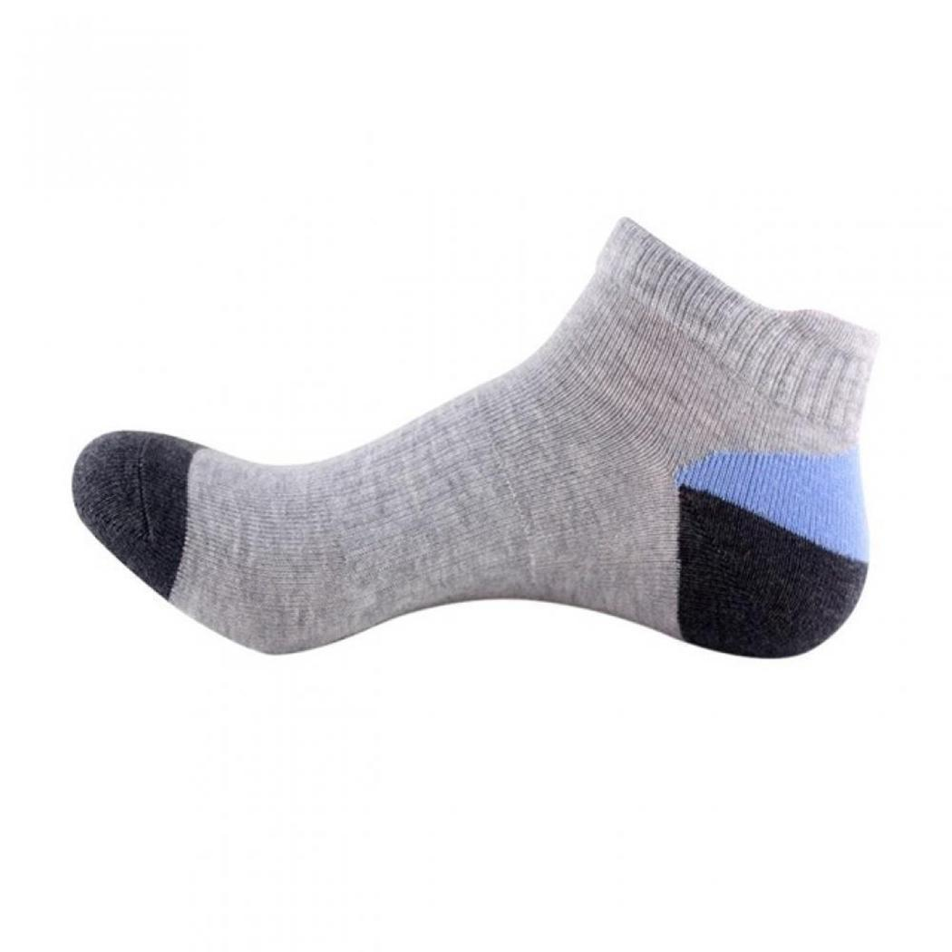 Men Casual Breathable Anti-friction Patchwork Ankle Length Breathable, Deodorant, Summer Socks