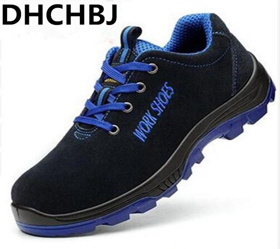 Hommes travail chaussures de sécurité en acier orteil chaud respirant hommes bottes décontractées anti-crevaison travail assurance chaussures grandes chaussures de sport