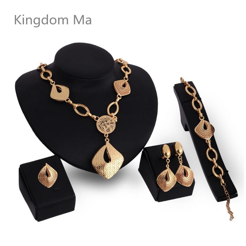 Kingdom Ma New Exquisite Dubai Gold Color Jewelry Set Nigerian Wedding woman accessories jewelry set African Beads Jewelry SetsKingdom Ma New Exquisite Dubai Gold Color Jewelry Set Nigerian Wedding woman accessories jewelry set African Beads Jewelry Sets