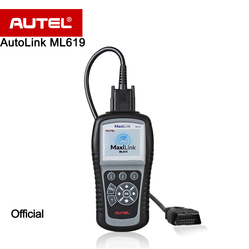 Autel AutoLink ML619 CAN /OBD2 + ABS/SRS Scanner Turns off Engine Light (MIL) and ABS/SRS Warning Lights better than AL619