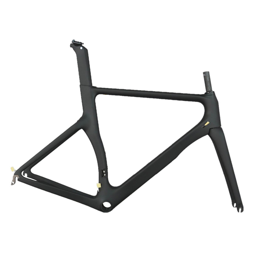 Full black color carbon fiber Internal cable aero road racing bike frame  TT-X2