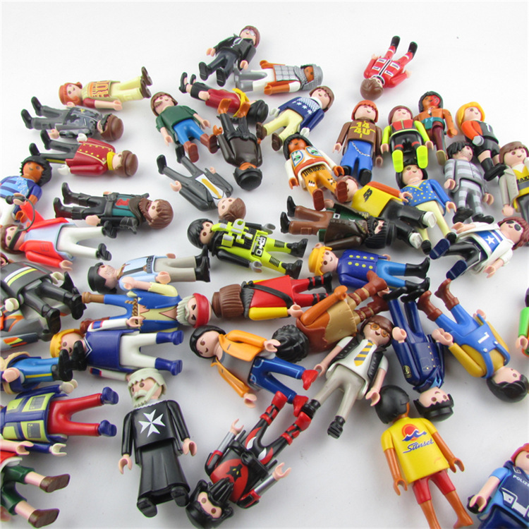 10pcs lot Original Playmobil Action Figures Toy Classical Collection Toys for Children police set fille originais