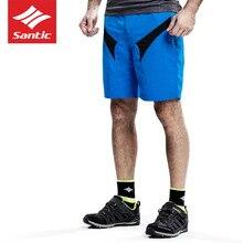 Santic Summer Men Cycling Shorts Quick Dry Bicycle MTB Shorts Downhill 4D Detachable Pad Bike Shorts Elastic Waist Sport Homme