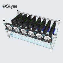 New Aluminum Open Air Mining Rig Frame Crypto Coin Case For 8 GPU ETH BTC Ethereum Computer Mining Case Frame Server Chassis